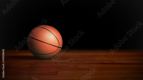 basketball on wood floor 2