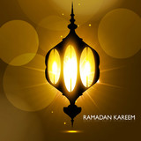 Shiny arabic lamp bright colorful vector background