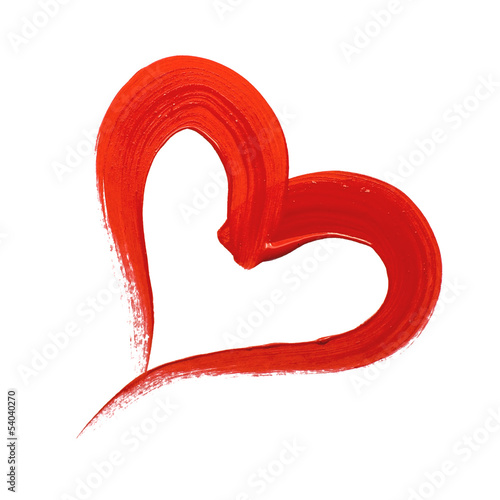 Aluminium Vormen Red painted heart