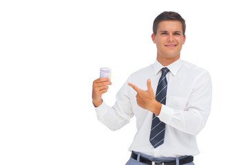 Businessman showing a lot of cash