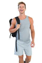Attractive man in sportswear