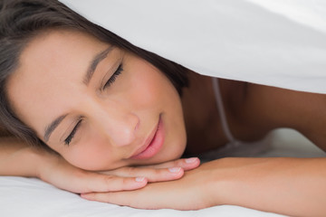 Portrait of an beautiful woman resting