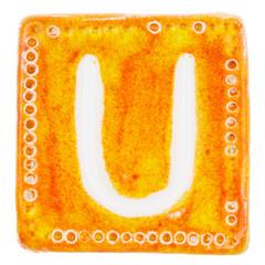 Handmade ceramic letter