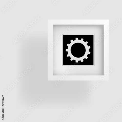 cogwheel, abstract frame, shadow