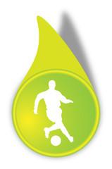 Vektor Fußball Button Grün