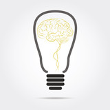 brain in light bulb