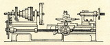 A metalworking lathe (ca. 1900) poster