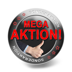 MEGA-AKTION, button
