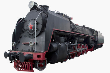 old black locomotive