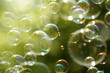Summer sunlight and soap bubbles