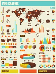 info graphic elements,vector background