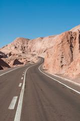 Carretera en el desierto de Atacama (Chile)