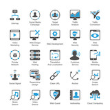 SEO and Internet Marketing Icons Set 3 Blue Version