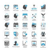 SEO and Internet Marketing Icons Set 4 Blue Version