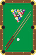 billiards vector illustration