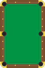 billiards table vector illustration