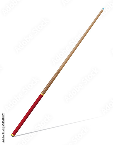 billiards cue vector illustration