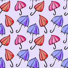 seamless pattern colorful umbrellas