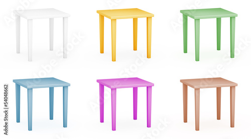 Plastic tables set