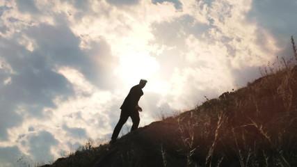 Success Climb Business Businessman Light  Concept HD