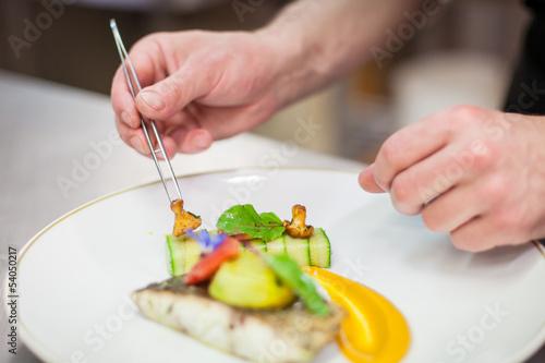 Fotobehang Koken Cuisinier