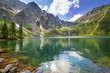 Leinwandbild Motiv Beautiful scenery of Tatra mountains and lake in Poland