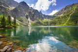 Fototapety Beautiful scenery of Tatra mountains and lake in Poland