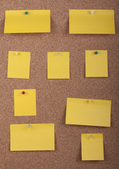 Post It Notes On Cork Board