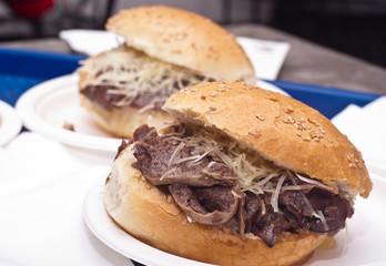 Sandwich with spleen