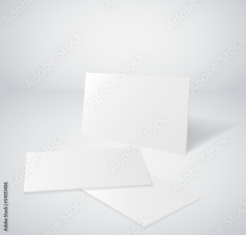 3d blank business card set