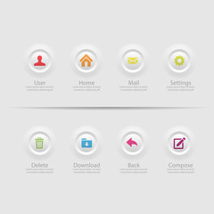 Web design Menu template
