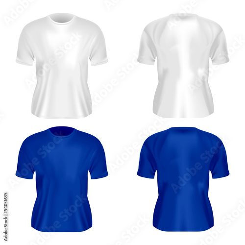 Vector illustration of men's T-shirt isolated