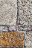 Rough Cut Stone And Brick Wall Detail