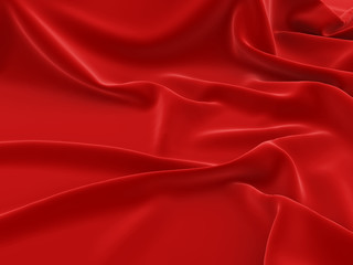Сovered with a red cloth background