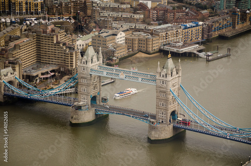 Aerial View, Tower Bridge, London - 54052655