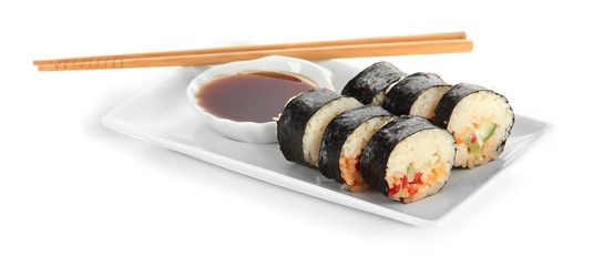 Tasty Maki sushi - Roll isolated on white
