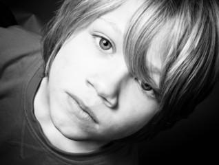 Vulnerable little boy