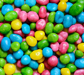 Bright colored candy