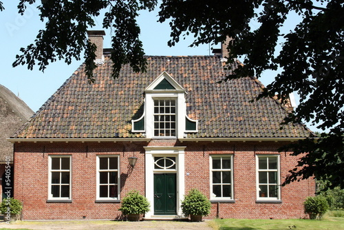 Manor house (Tonckensborg)  in Westervelde. The Netherlands