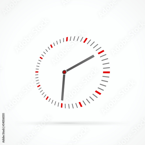 Stylized clock abstract vector logo