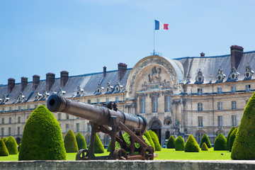 Les Invalides, Paris, France. A historic cannon