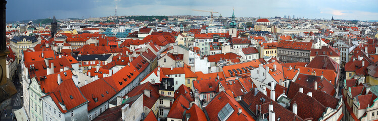 Panoramic view from Old Town Square Tower, Praha