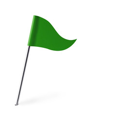 Green Golf Flag