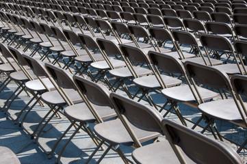 Freie Stuhlreihen -outdoor