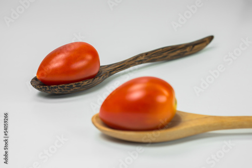 Tomatoes in the spoons
