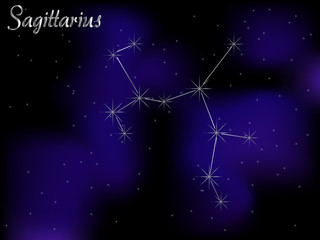 Sky background - Sagittarius