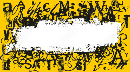 abstract background with different letters