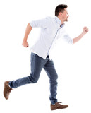 Man running late