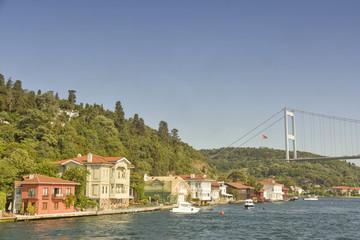 Waterside Residences And Bosphorus Bridge, Istanbul, Turkey