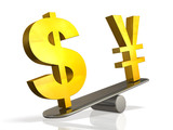 Exchange rate of the Japanese yen the dollar